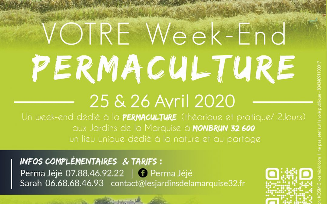 WE PERMACULTURE  I  25 & 26 avril 2020