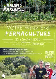 WE PERMACULTURE  I  25 & 26 avril 2020 @ les jardins de la Marquise
