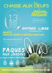 CHASSE AUX OEUFS  I  13 avril 2020 @ les jardins de la Marquise