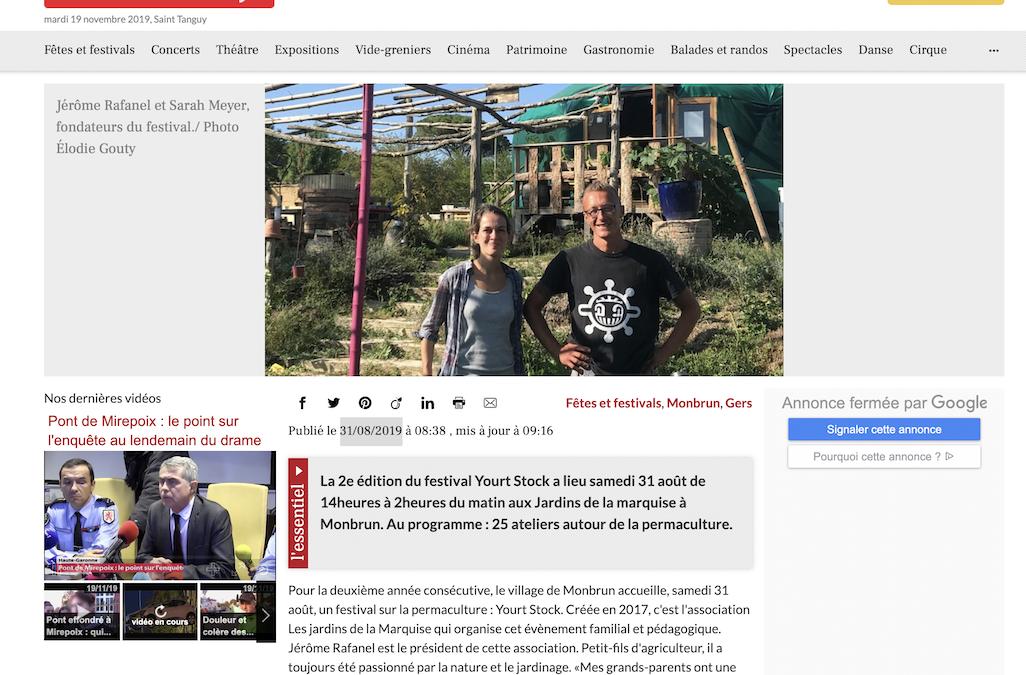 «Monbrun. Festival Yourt Stock : une journée pour la permaculture»